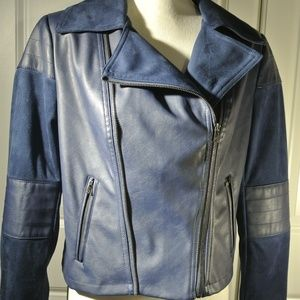 G by Guiliana Blue Moto Jacket